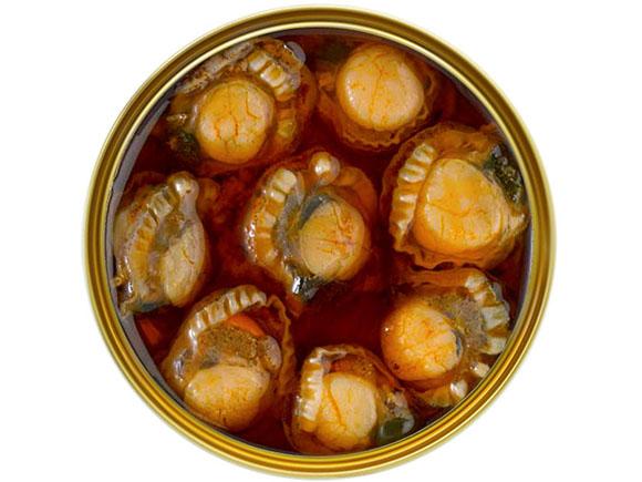 zamburiñas salsa vieira de las Rías Gallegas