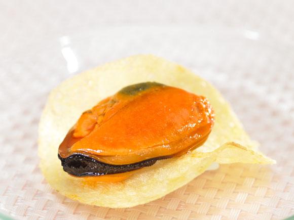 Mejillones con chips